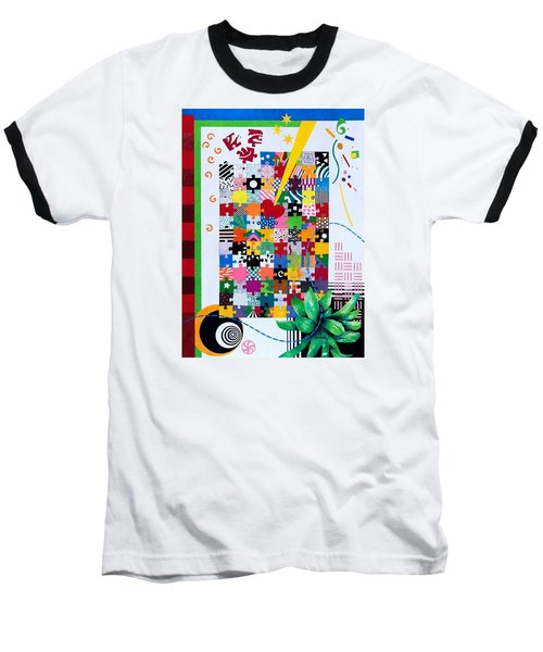Life Is A Puzzle Baseball T-Shirt by Thomas Gronowski