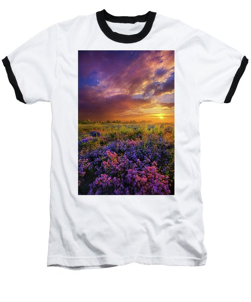 Life Is Measured In Moments Baseball T-Shirt by Phil Koch