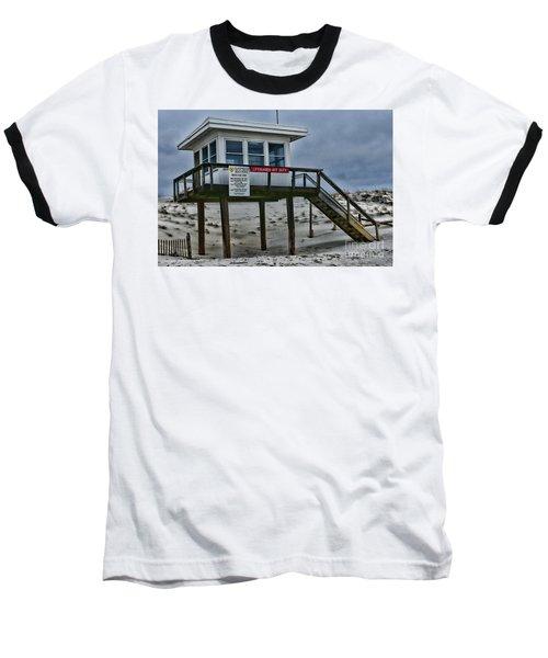 Lifeguard Station 1 Baseball T-Shirt by Paul Ward