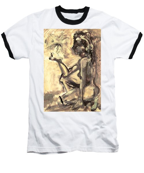 Baseball T-Shirt featuring the painting Light And Shadow by Mary Schiros