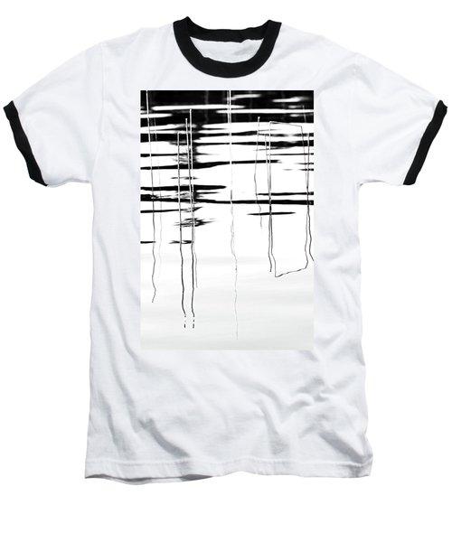 Light And Shadow Reeds Abstract Baseball T-Shirt