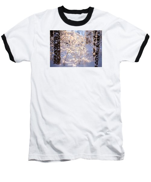 Baseball T-Shirt featuring the photograph Light Of Winter by Rose-Maries Pictures