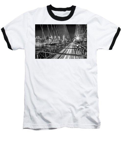 Light Trails Of Manhattan Baseball T-Shirt by Az Jackson