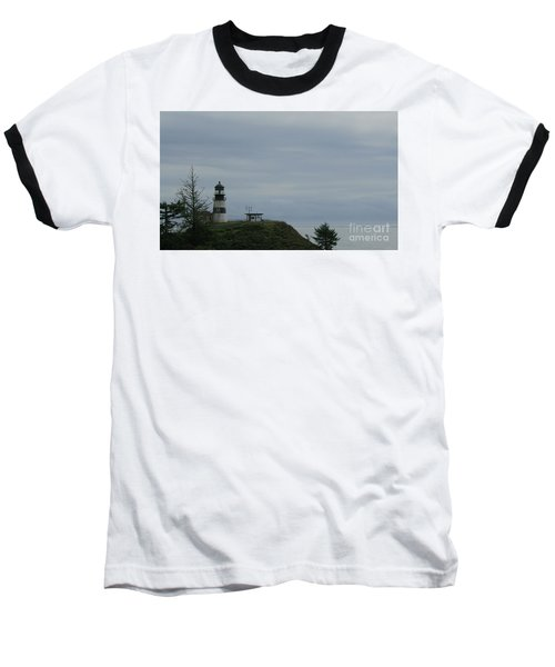 Lighthouse At Cape Disappointment Baseball T-Shirt