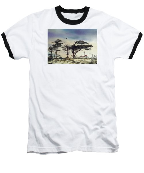 Baseball T-Shirt featuring the painting Lighthouse Coast by James Williamson