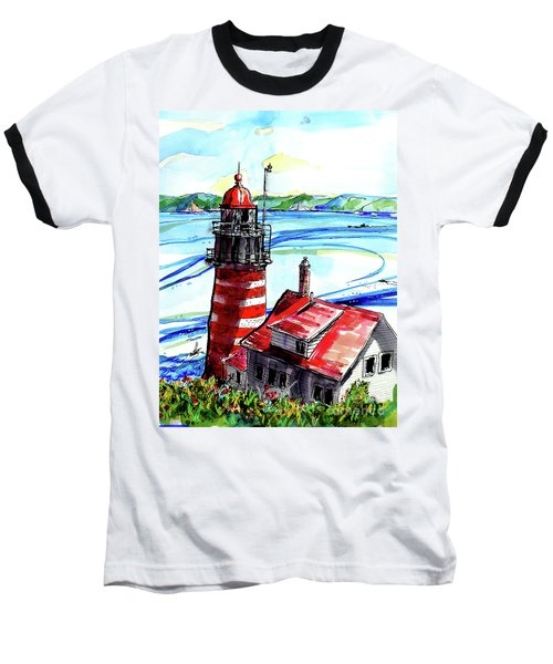 Lighthouse In Maine Baseball T-Shirt