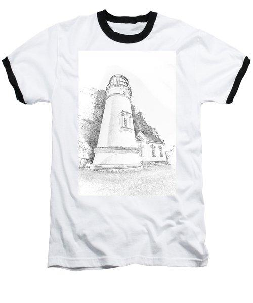 Lighthouse In Oregon Baseball T-Shirt by Jeffrey Jensen