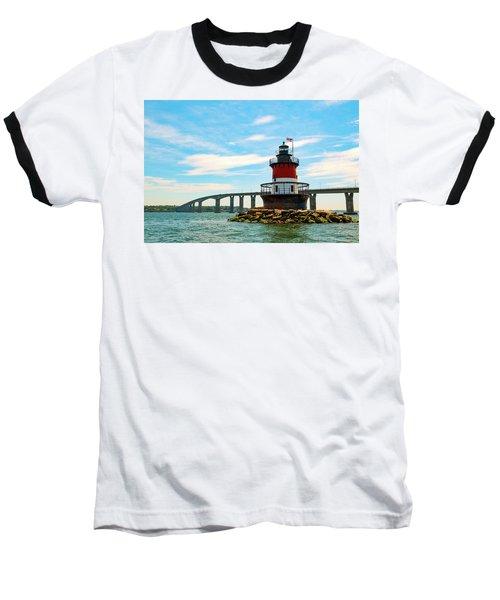 Lighthouse On A Small Island Baseball T-Shirt