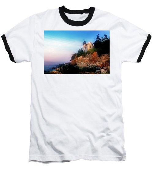 Lighthouse Sunrise Baseball T-Shirt