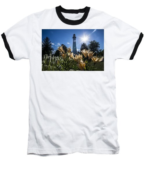Lighthouse With A Flowery Foreground Baseball T-Shirt