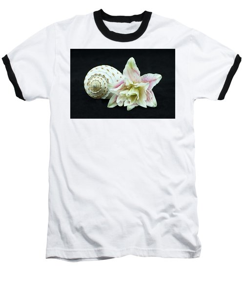 Lily And Shell Baseball T-Shirt