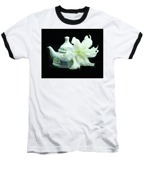 Lily And Teapot Baseball T-Shirt