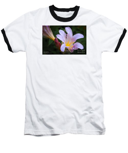 Baseball T-Shirt featuring the photograph Lily In The Rain By Flower Photographer David Perry Lawrence by David Perry Lawrence