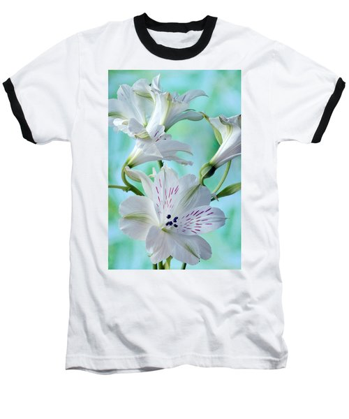 Lily Of The Incas Baseball T-Shirt by Terence Davis