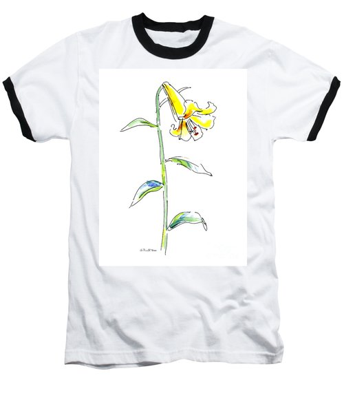 Lily Watercolor Painting 2 Baseball T-Shirt