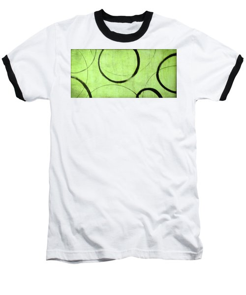 Baseball T-Shirt featuring the painting Lime Ensos by Julie Niemela