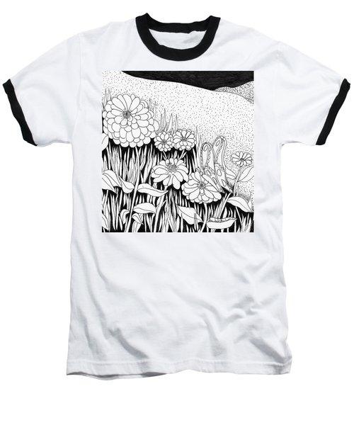 Linda's Garden Baseball T-Shirt by Lou Belcher