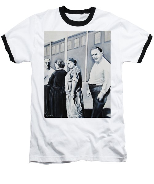 Line Of Peculiar People Baseball T-Shirt by Jean Cormier
