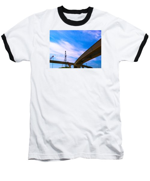 Baseball T-Shirt featuring the photograph Lineing The Sky by Jamie Lynn