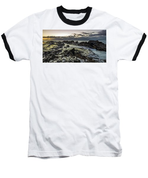 Lines Of Time Baseball T-Shirt by Mark Lucey