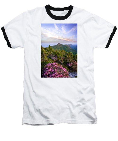 Linville Gorge Spring Bloom Baseball T-Shirt