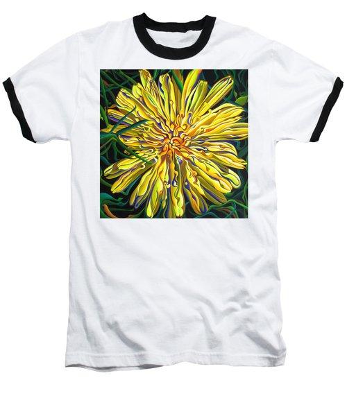 Lion In The Grass Baseball T-Shirt