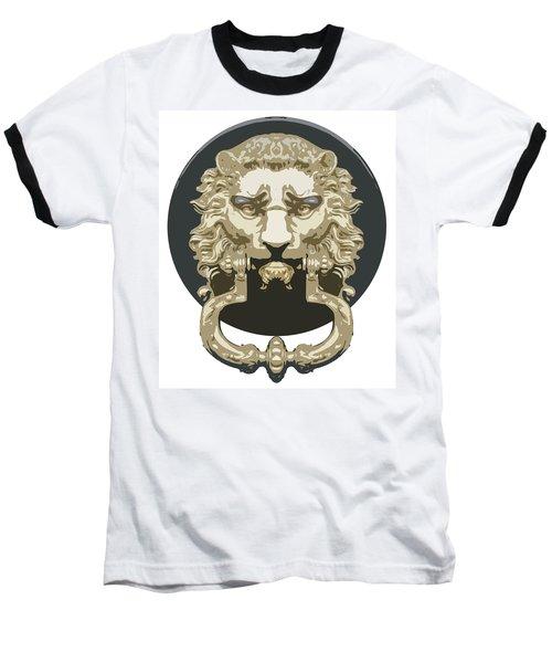 Lion Knocker Baseball T-Shirt