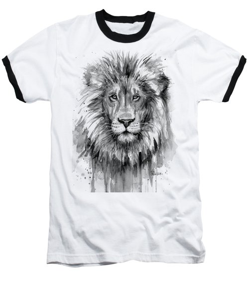Lion Watercolor  Baseball T-Shirt