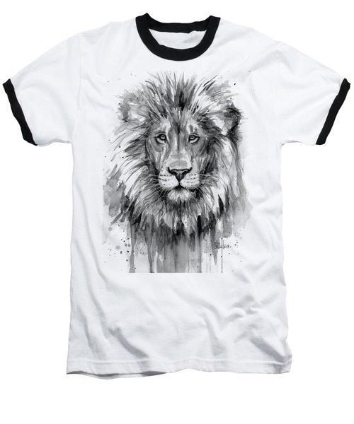 Lion Watercolor  Baseball T-Shirt