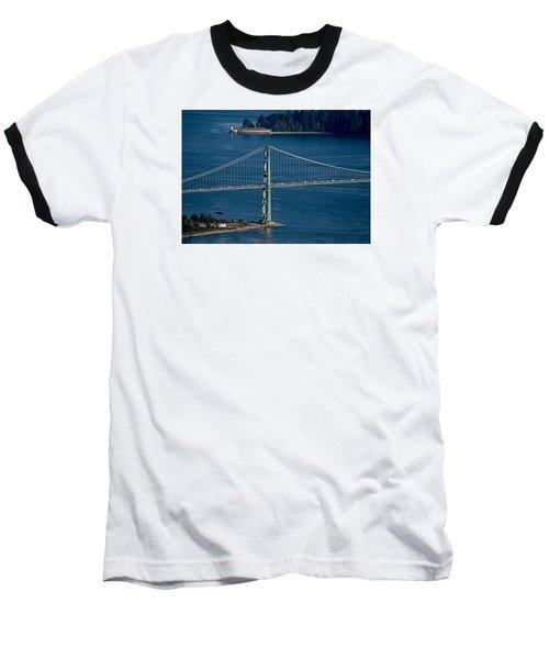 Lions Gate Bridge And Brockton Point Baseball T-Shirt