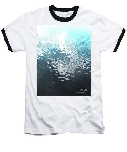 Baseball T-Shirt featuring the photograph Liquid Blue by Rebecca Harman