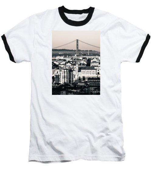 Lisbon In Black And White Baseball T-Shirt