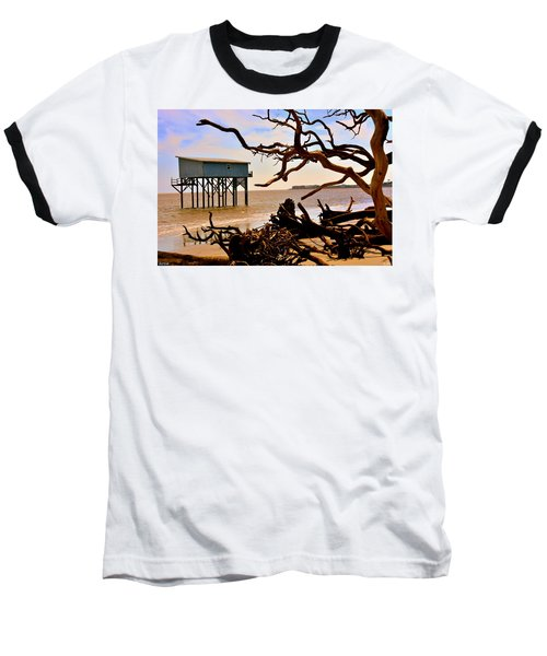 Little Blue Hunting Island State Park Beaufort Sc Baseball T-Shirt