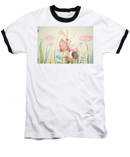 Little Bunny In The Garden Baseball T-Shirt