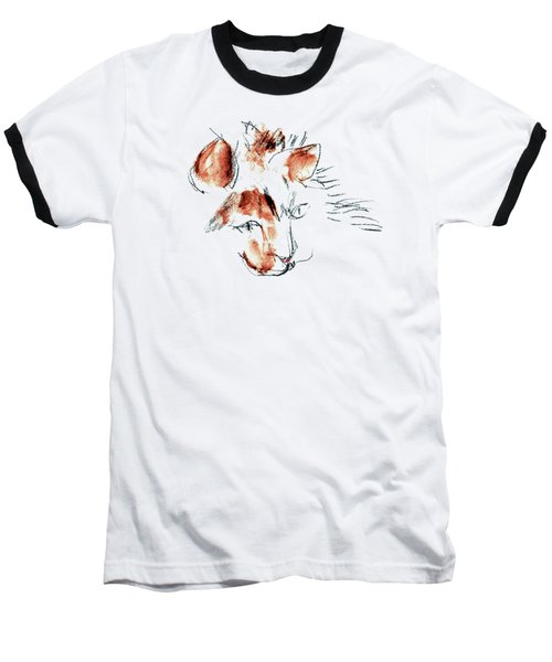 Baseball T-Shirt featuring the mixed media Little Merph - Cats by Carolyn Weltman