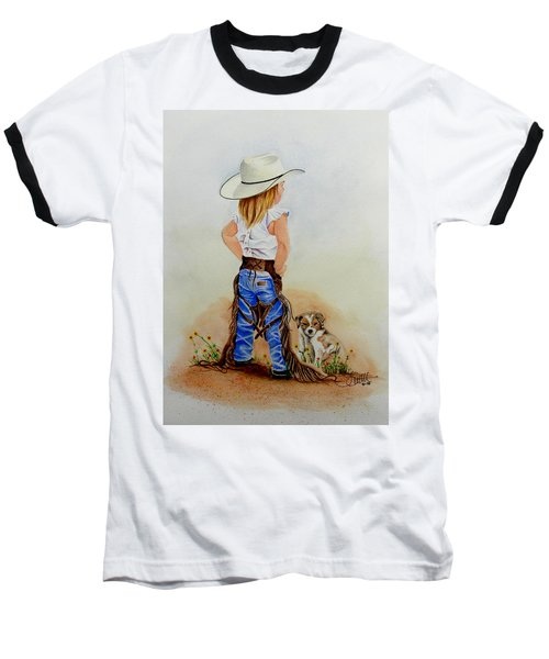 Little Miss Big Britches Baseball T-Shirt