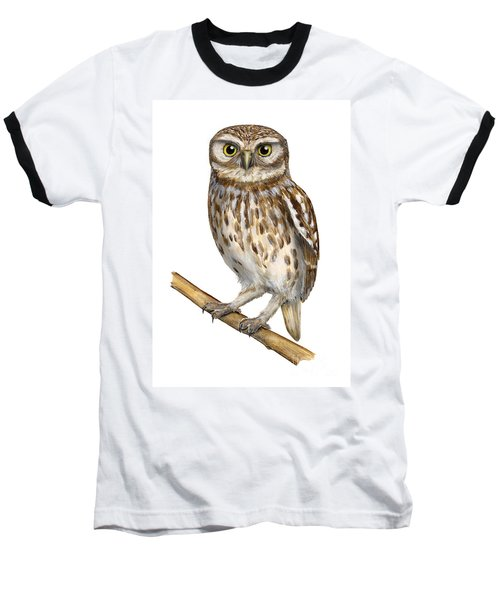 Little Owl Or Minerva's Owl Athene Noctua - Goddess Of Wisdom- Chouette Cheveche- Nationalpark Eifel Baseball T-Shirt