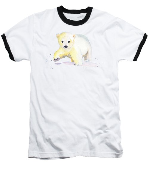 Little Polar Bear Baseball T-Shirt