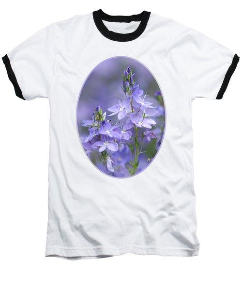 Little Purple Flowers Vertical Baseball T-Shirt