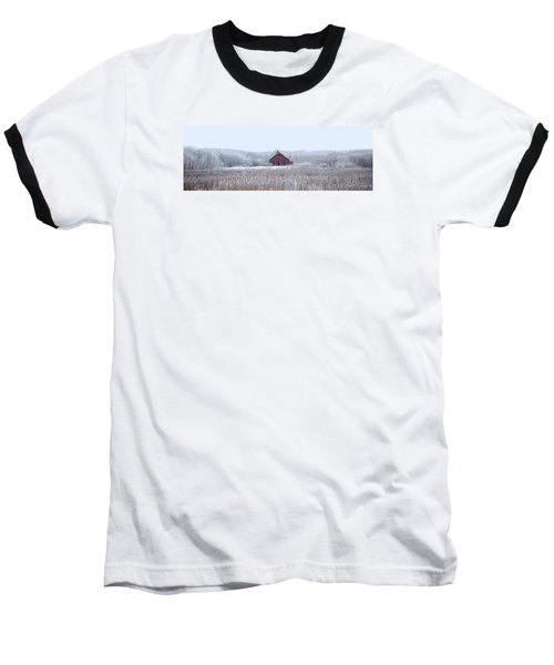 Little Red House Baseball T-Shirt by Ellery Russell