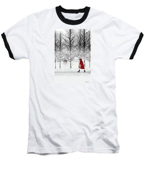 Baseball T-Shirt featuring the digital art Little Red by Nancy Levan