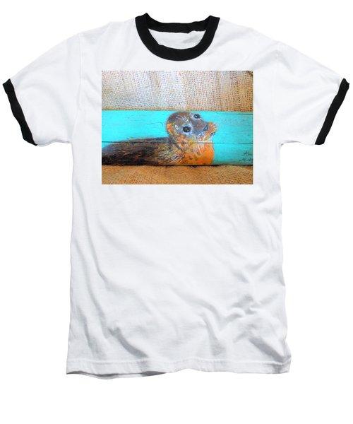 Little Seal Baseball T-Shirt by Ann Michelle Swadener