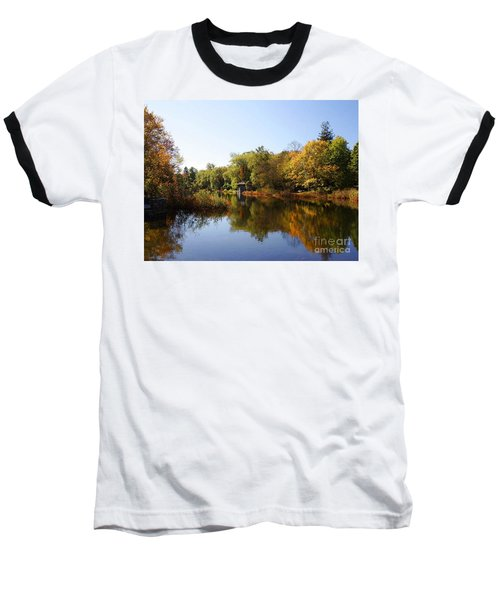 Little Shawme Pond In Sandwich Massachusetts Baseball T-Shirt by Rod Jellison
