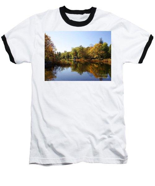 Little Shawme Pond In Sandwich Massachusetts Baseball T-Shirt