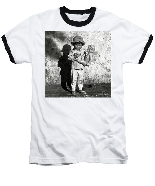 Little Vietnamese Girl Playing With Her Doll Baseball T-Shirt