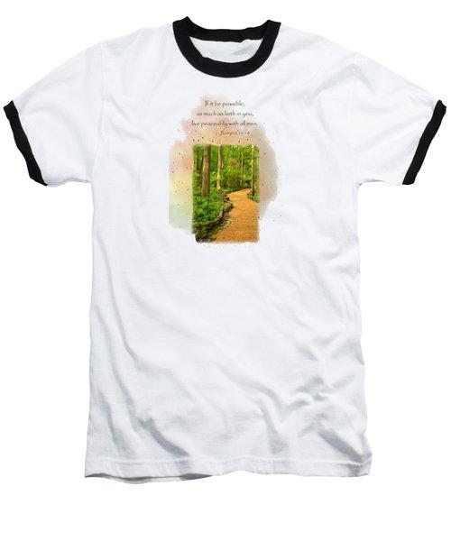 Live In Peace Baseball T-Shirt