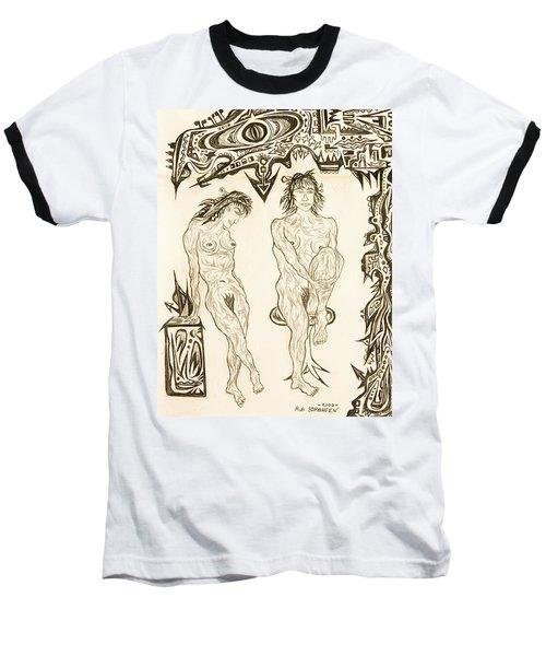 Live Nude 10 Female Baseball T-Shirt