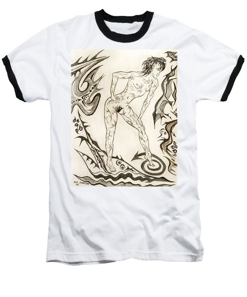 Live Nude 3 Female Baseball T-Shirt