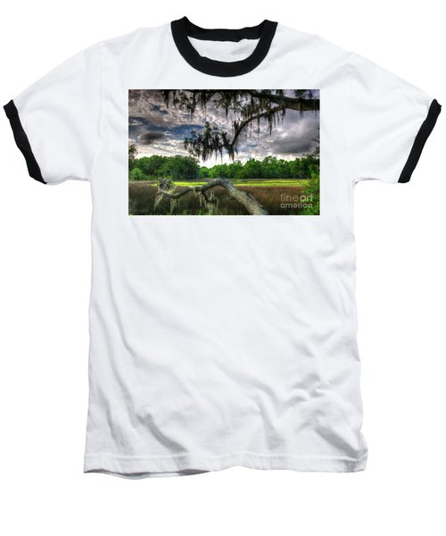 Live Oak Marsh View Baseball T-Shirt