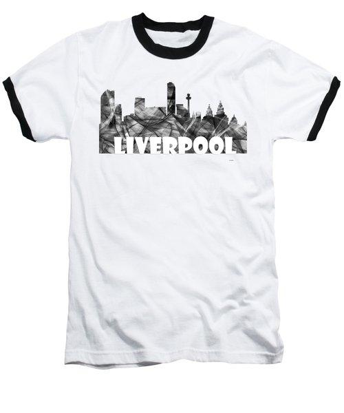 Liverpool England Skyline Baseball T-Shirt